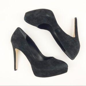 Charles By Charles David Platform Suede Black Heel